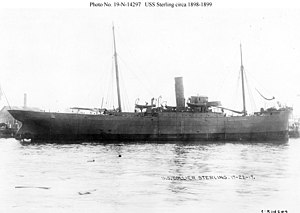 USS Sterling (1898) - Image: USS Sterling, circa 1898 1899