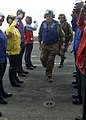 US Navy 030827-N-2954M-002 Chairman, Armed Services Committee and Former Secretary of the Navy, Sen. John Warner (R-Va.) passes through the rainbow side boys.jpg