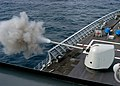 US Navy 040225-N-8053S-191 A 54 caliber (MK 45) 5-inch lightweight gun is fired aboard the guided missile cruiser USS Leyte Gulf (CG 55) as part of a live fire exercise.jpg