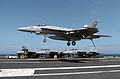 US Navy 040327-N-6213R-148 An F-A-18E Super Hornet assigned to the Eagles of Strike Fighter Squadron One One Five (VFA-115) lands aboard the nuclear powered aircraft carrier USS John C. Stennis (CVN 74).jpg