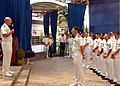 US Navy 050429-N-4205W-004 Chief of Naval Operations Adm. Vern Clark speaks to Sailors stationed in Singapore.jpg