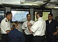 US Navy 060605-N-6616W-020 Liaison Officers from Algeria, Morocco, Spain, Tunisia and the U.S. discuss Automated Information System (AIS) output from ships participating in Phoenix Express 2006.jpg