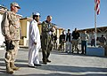 US Navy 071029-N-3385W-001 U.S. Ambassador to Afghanistan William Wood visits Provincial Reconstruction Team Khost to meet with Soldiers, Sailors and Afghans helping to win the war in Afghanistan.jpg