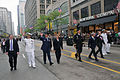 US Navy 110528-N-IK959-221 Chicago Mayor Rahm Emanuel waves to the crowd as he marches with Commander and Chief of the United States Joint Forces C.jpg