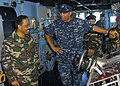 US Navy 110607-N-VY256-031 Cmdr. Adrian Ragland, commanding officer of the amphibious dock landing ship USS Tortuga (LSD 46), explains Boatswain's.jpg