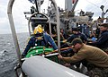 US Navy 110721-N-EF447-084 Navy divers assigned to Mobile Diving and Salvage Unit (MDSU) 2 begin diving operations aboard the Military Sealift Comm.jpg