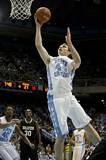 US Navy 111027-N-QF368-685 Tyler Zeller competes in an exhibition basketball game.jpg