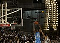 US Navy 111111-N-DR144-973 University of North Carolina's Harrison Barnes guards the ball during the Quicken Loans Carrier Classic.jpg