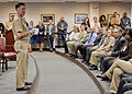 US Navy 120110-N-ZZ999-001 Adm. Mark Ferguson, Vice Chief of Naval Operations, addresses military members and civilians from U.S. Fleet Cyber Comma.jpg