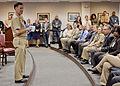 US Navy 120110-N-ZZ999-001 Adm. Mark Ferguson, Vice Chief of Naval Operations, addresses military members and civilians from U.S. Fleet Cyber Comma.jpg
