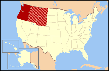 Northwestern United States Wikipedia - Us map wikipedia