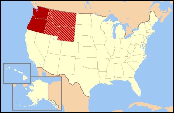 US map-Northwest