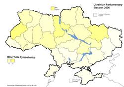 Bloc Yulia Tymoshenko results (22.29%