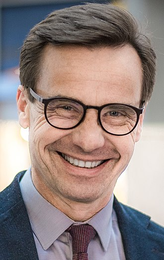 2018 Swedish general election - Image: Ulf Kristersson in 2018 Swedish general election, 2018 (cropped)