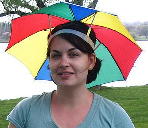 Umbrella hat - A typical umbrella hat