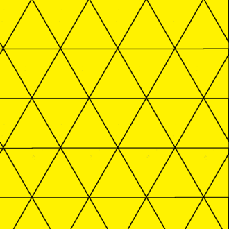 Triangular tiling - Image: Uniform triangular tiling 111111