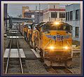 Union Pacific 8548(SD70ACe) is the lead locomotive on train at Portland OR From the rear window of the Southbound Coast Starlight - panoramio.jpg