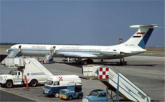 Ilyushin Il-62 - Il-62 of United Arab Airlines in Rome in 1971.