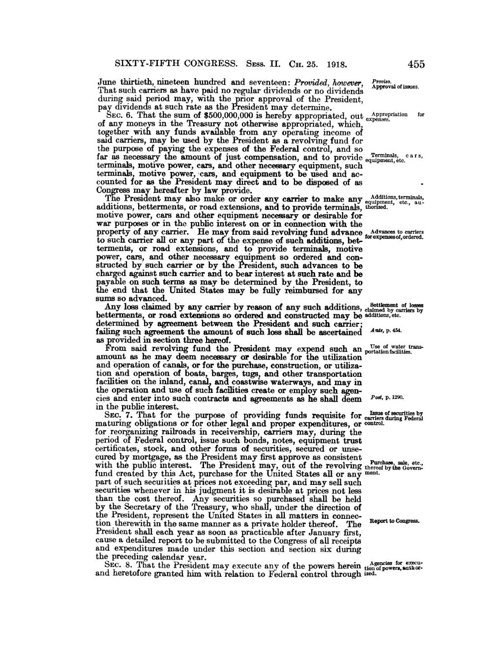 Pageunited States Statutes At Large Volume 40 Part 1vu473