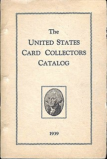The American Card Catalog American reference book regarding trading cards