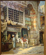 Untitled (Moroccan Market Scene) by Louis Comfort Tiffany, undated, oil on canvas - New Britain Museum of American Art - DSC09658