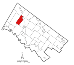 Location of Upper Frederick Township in Montgomery County