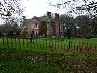 Upton Cressett Hall Elizabethan moated manor house in the village of Upton Cressett, Shropshire, England