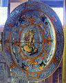 Urbino, bottega fontana, gran vassoio a raffaellesche con giuseppe che illustra bil sogno del faraone, 1565-75 ca., retro.JPG