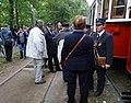 Výstaviště Holešovice, historické tramvaje 2015, průvodčí.jpg