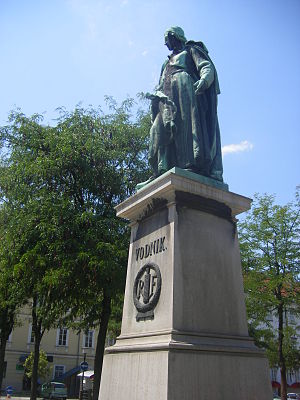 Valentin Vodnik - Vodnik Monument at Vodnik Square in Ljubljana