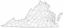 Location of Leesburg, Virginia