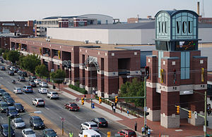 VCU Rams men's basketball - The exterior of the Stuart C. Siegel Center, which has housed the Rams since 1999.