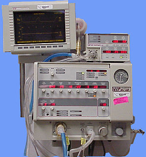 Ventilator Device that provides mechanical ventilation to the lungs