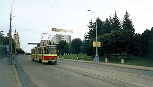 Trams in Vinnytsia - Prior to 2007 Czech-made Tatra trams were dominating in Vinnytsia