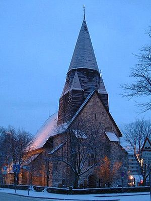 Vossevangen - View of the local church