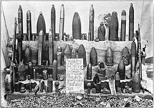 Siege of Ladysmith - Varieties of ammunition collected at Ladysmith