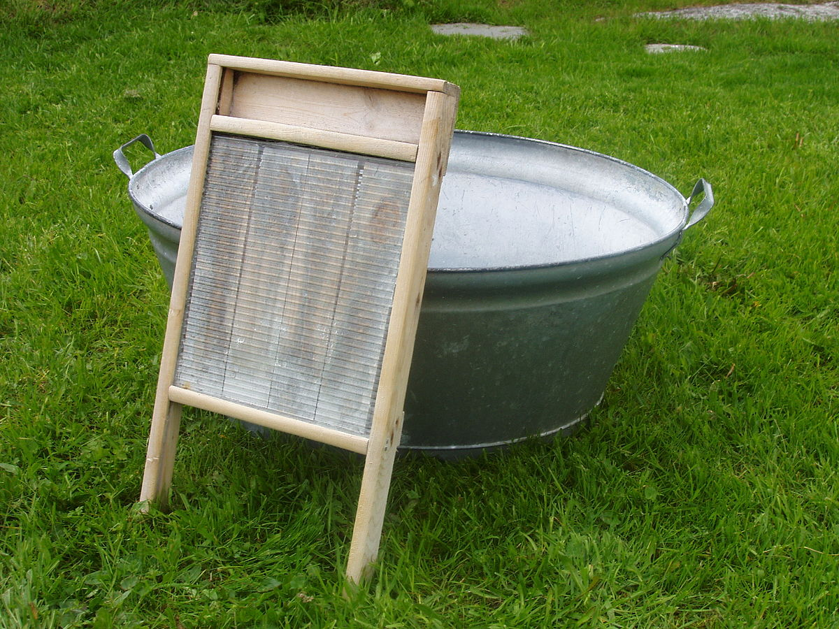 Old Fashioned Clothes Washing Board
