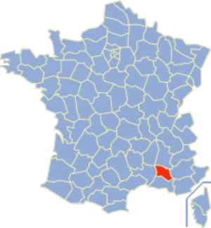 Communes of the Vaucluse department - Image: Vaucluse Position