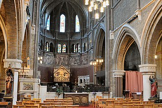St Peter's Church, Vauxhall - Vauxhall, St Peter's nave interior
