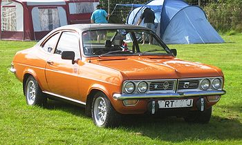 English: Vauxhall Firenza in a field in Herfor...