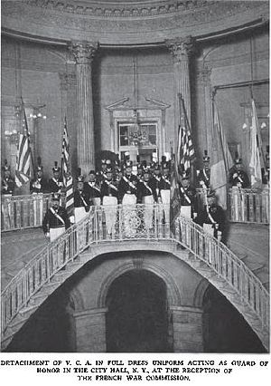 Veteran Corps of Artillery of the State of New York - VCASNY as Guard of Honor May 1917