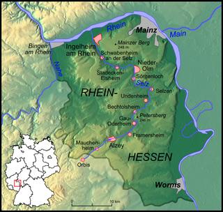 Selz river in Germany