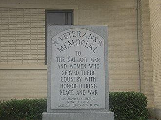 Bienville Parish, Louisiana - Veterans Memorial has been removed to the new Bienville Parish Courthouse.