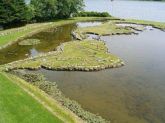 World Map at Lake Klejtrup - Image: Viborg Kommune Klejtrup Verdenskortet 07 ies