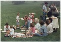 Vice President Bush picnics on the lawn of his Kennebunkport home with his family - NARA - 186370.tif