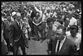 Vice President Lyndon B. Johnson, greeting crowds as a Secret Service agent stands by, in Taipei, Formosa LCCN2018654386.jpg