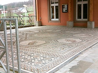 Vichten - Replica of the Roman mosaic in Vichten