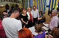 Victor Ponta, Daciana Sarbu, Gabriela Firea, Nicolae Banicioiu si Gabriela Szabo la Buftea 25.05 (11) (14576928503).jpg
