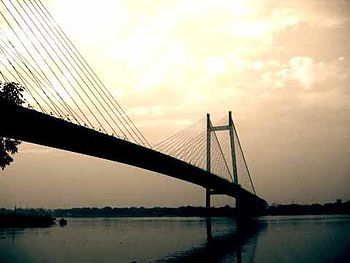 English: (2nd Hooghly Bridge), Kolkata, West B...