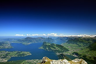 Lake Lucerne - View of Lake Lucerne from the Pilatus
